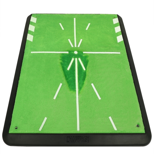 "Champkey 13"" 17"" Tracker Golf Practice Hitting Mat - Traces, Analysis & Correct Your Swing Path"