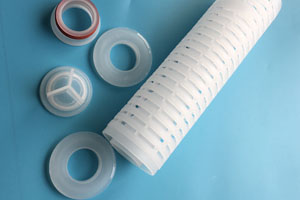 Filter cartridge end caps which can be welded by INDRO welding machine