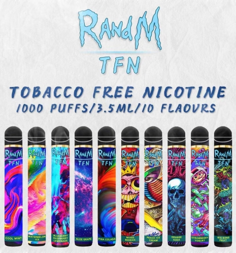 Original RandM TFN Synthetic Nicotine Disposable Vape Pod Device 1000Puffs