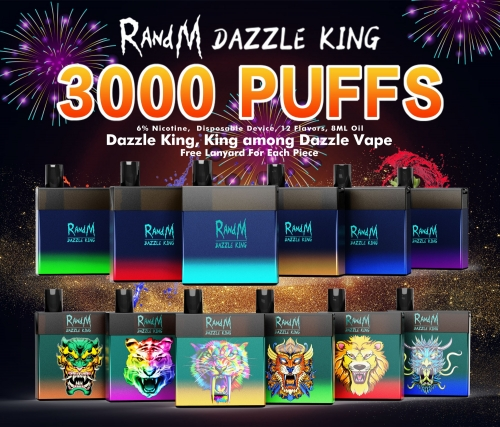 Fumot Original RandM Dazzle King LED Light Glowing 3000 Puffs Disposable Vape Pod Device