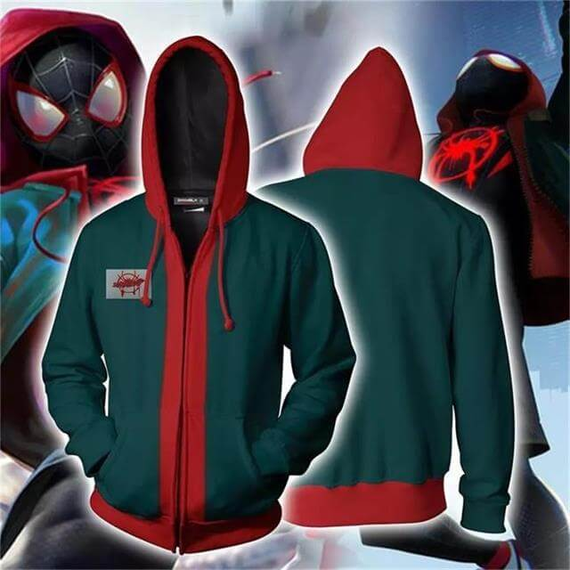 Spider-Man Into The Spideverse Miles Hoodies