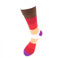 Casual Happy Mens Cotton Socks Colorful Striped Socks