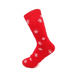 Red Christmas Socks Holiday Socks Snowflake Socks for Wholesale