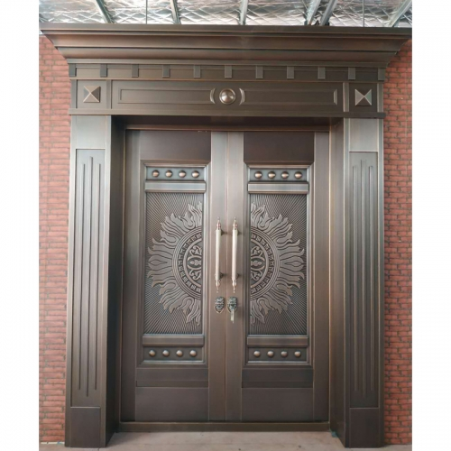 Front main security door copper design door for villa entrance