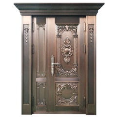 Retro Luxury Apartment Main Gate Design Mom And Son Copper Entrance Door