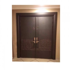 Double Steel security Door metal exterior door