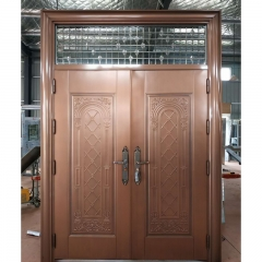304 Stainless Steel Safety Imitation copper door D...