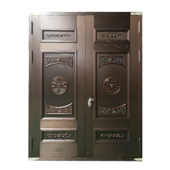 Classical Copper Main Double Door Entrance Exterio...