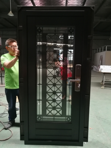 High Performance Stainless Steel Main Entrance Doors Decorative House Front Door With Glass