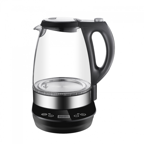 Smart boil kettle fast cooling electric digital based glass kettle keep warm