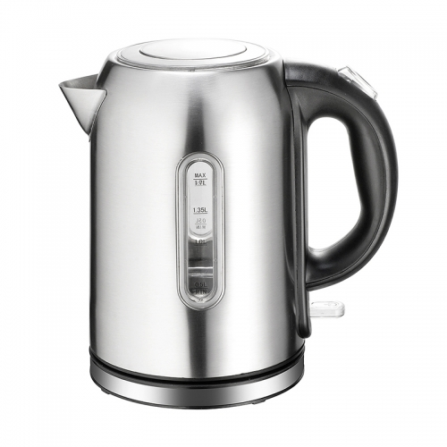 High quality popular design new arrival brushed stainless steel electric kettle 1.7L capacity 360 degree cordless base