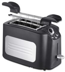 Automatic electric toaster 2 Slice hot sale plastic Electric toaster with SS decoration pop-up long slot toaster