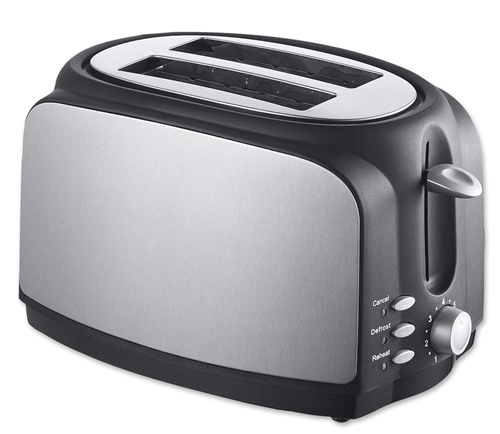 Automatic electric 2 Slice hot sale Stainless Electric Pop-up long slot toaster
