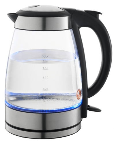 Cordless Glass Kettle Electric Kettle Fast Boiling auto Shut-off with SS rim