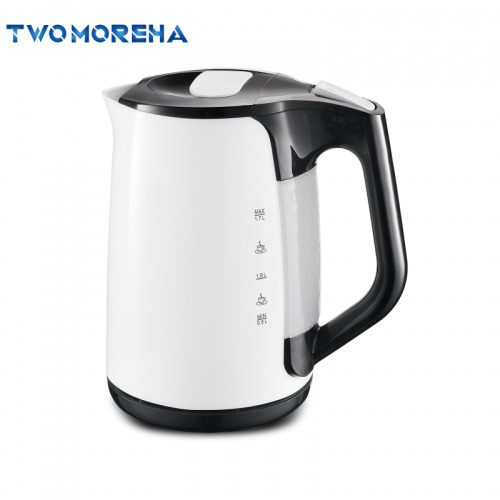 1.7L capacity cordless base cool touch electric plastic kettle fast boiling