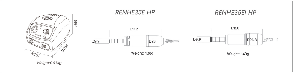 dimensions of renhe119-35EI