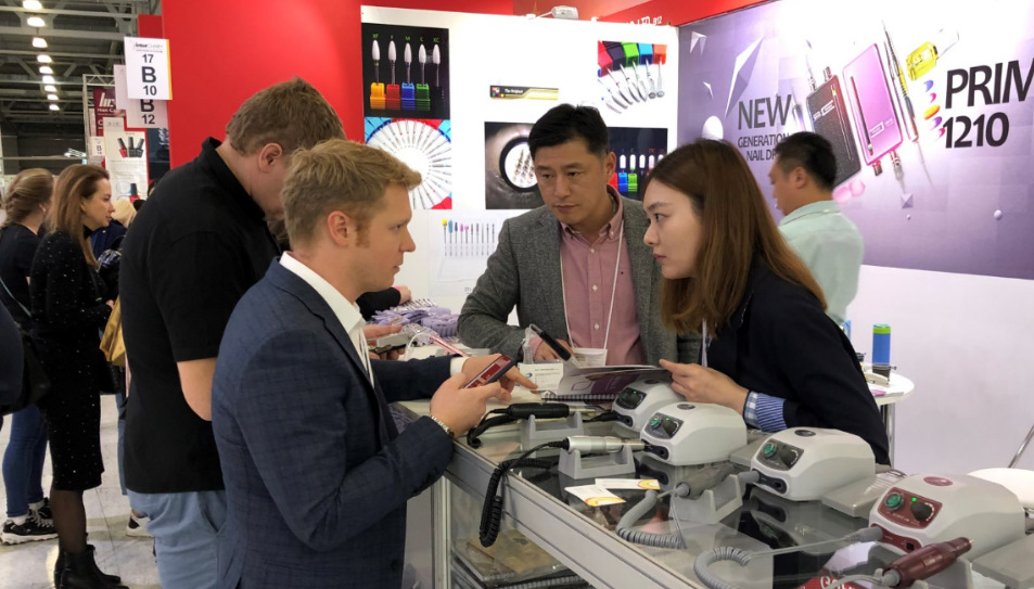 RHJC nail drill supplier play beauty shows in Russia