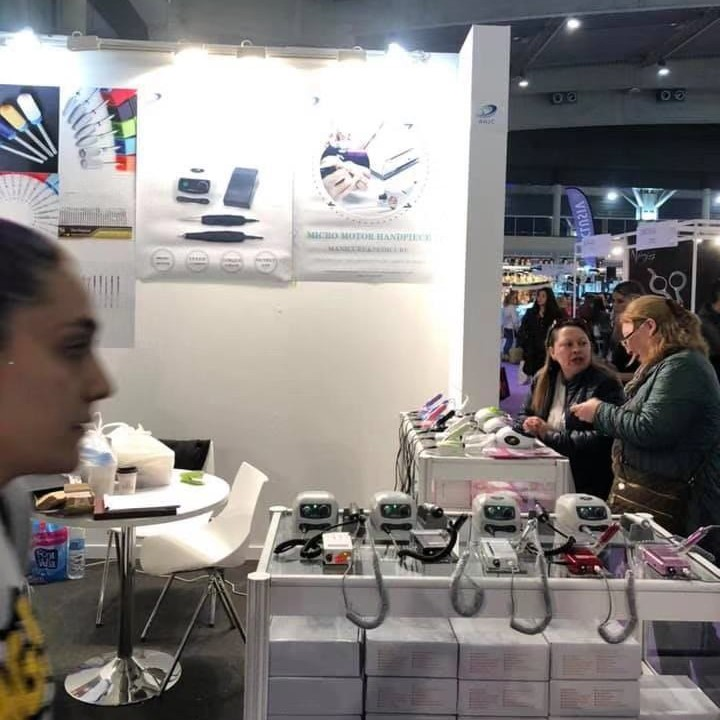 RHJC nail drill manufacturer play beauty shows in Spain