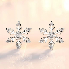 Simple Snowflake Earrings