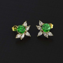 New fashionable emerald zircon female Earrings