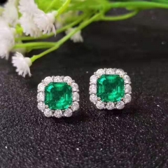 New European and American retro emerald ear nails