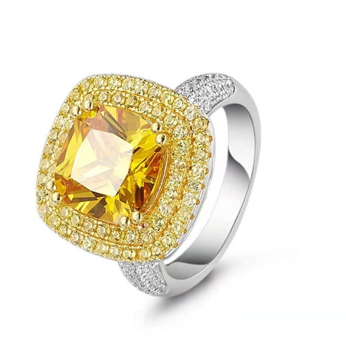European and American classic luxurious imitation diamond-set stone ring full of diamond-set rings