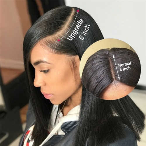 QueenWeaveHair 13x6 Lace Frontal Wig Straight Human Hair Hd Lace Front Wigs