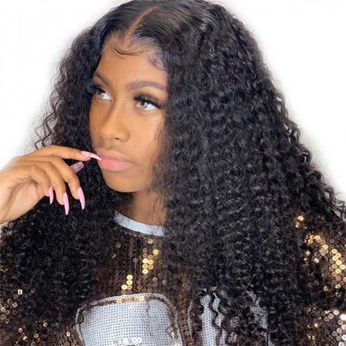 QueenWeaveHair 360 Afro Kinky Curly Frontal Lace Front Wigs With Baby Hair