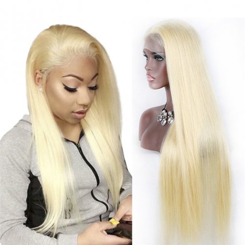 QueenWeaveHair #613 Blonde 360 Lace Frontal Wig Colored Human Hair Wigs