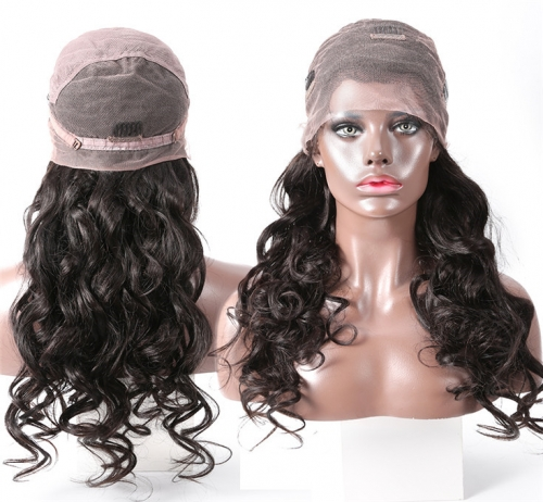 QueenWeaveHair 13x4 Inch Full Lace Wigs HD Lace Transparent Wet And Wavy