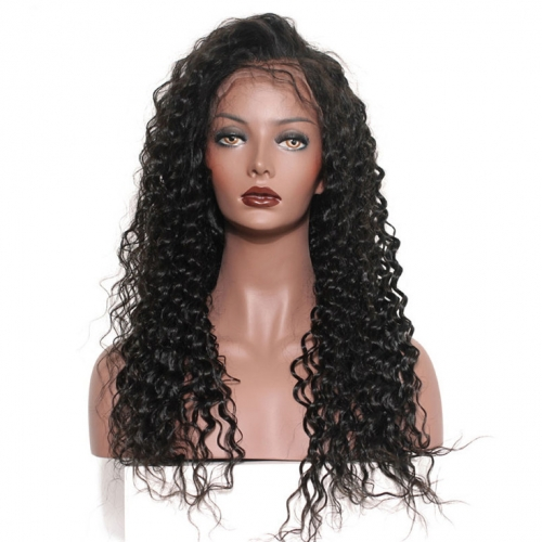 QueenWeaveHair Short Deep Curly Wig HD Transparent Lace Full Lace Wig
