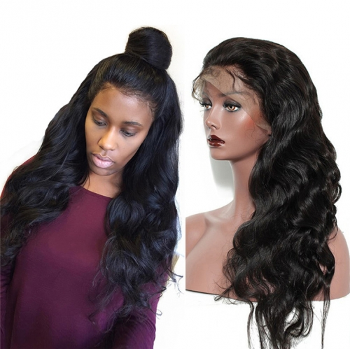 QueenWeaveHair Body Wave Transparent Lace Wig On Dark Skin