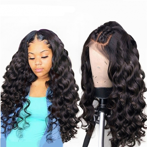 QueenWeaveHair Loose Wave HD Lace Human Hair Wig Tightening A Loose Wig