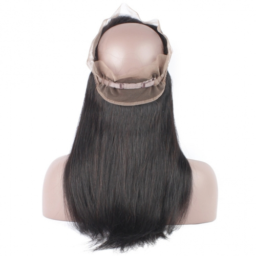 QueenWeaveHair Cheap 360 Lace Frontal Human Hair With Baby Hair