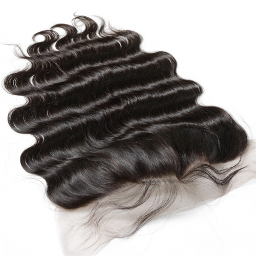 QueenWeaveHair Transparent Lace Body Wave Human Hair Frontal With Baby Hair