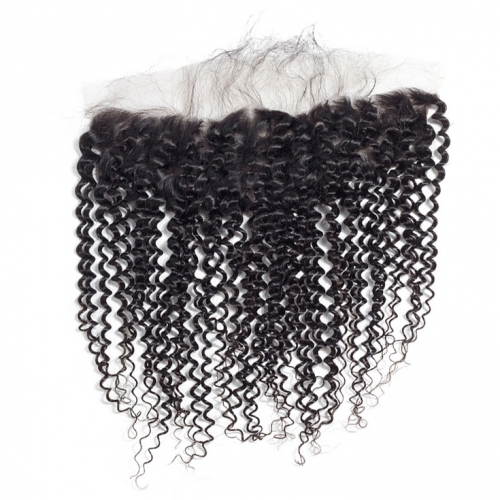 QueenWeaveHair Afro Kinky Curly Lace Frontal Human Hair With Baby Hair