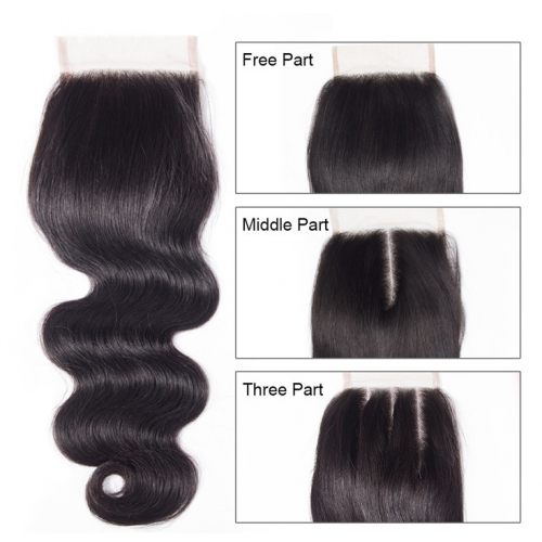 QueenWeaveHair Virgin Human Hair Closure Body Wave For Sale Only