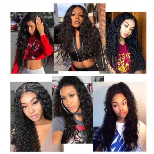 QueenWeaveHair 1 Bundle Water Wave Cheap Human Hair Weave Packs For Sale