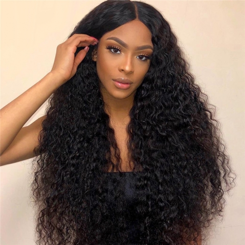 QueenWeaveHair 3 Bundles Loose Deep Wave Hair Natural Black Curly Hair Weft