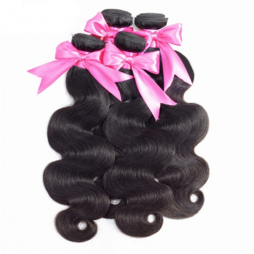 QueenWeaveHair 4 Bundles Weave Body Wave Cheap Human Hair Extensions