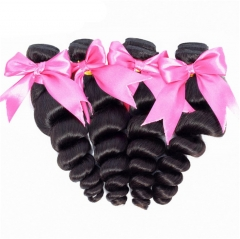 QueenWeaveHair 4 Bundles Loose Wave Human Hair Loose Hair Weave
