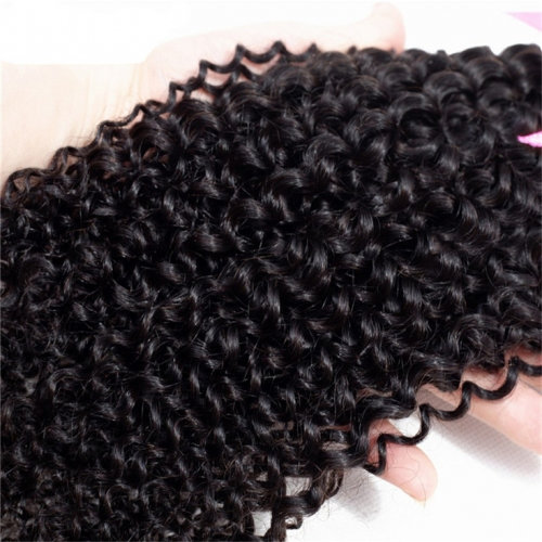QueenWeaveHair 4 Bundles Afro Kinky Curly Hair Human Hair Weave