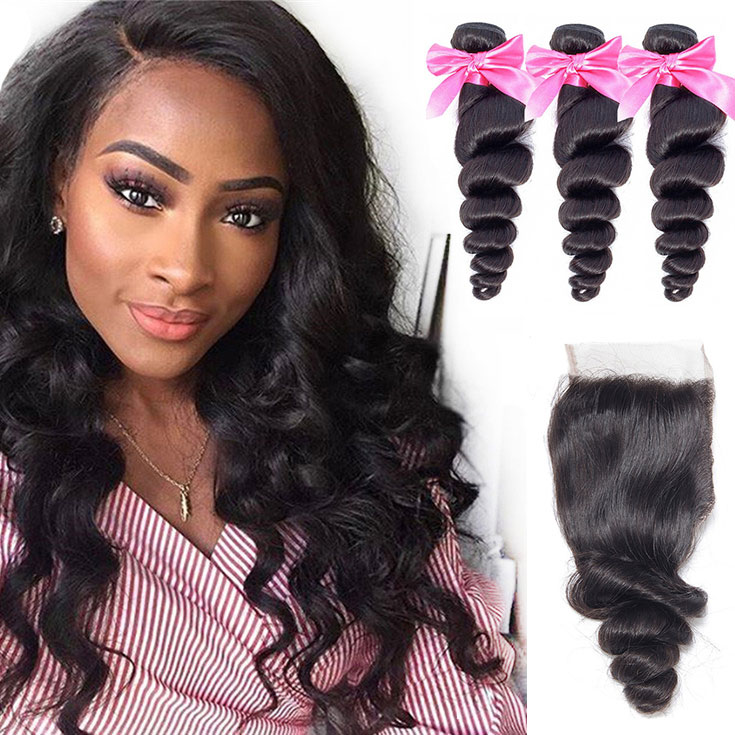 3 bundle with loose wave closure