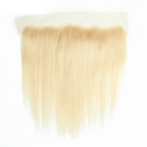 QueenWeaveHair Straight Blonde Human Hair Lace Frontal With Baby Hair #613