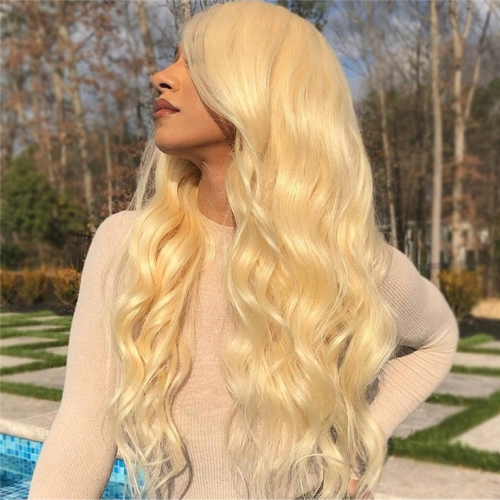 QueenWeaveHair 3 Bundles Honey Blonde Body Wave Hair For Sale
