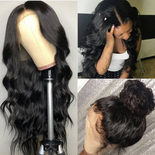 QueenWeaveHair Hd Lace Body Wave Transparent Lace Full Lace Human Hair Wig