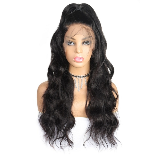 QueenWeaveHair 300% Density Body Wave Wig Short Lace Front Wig