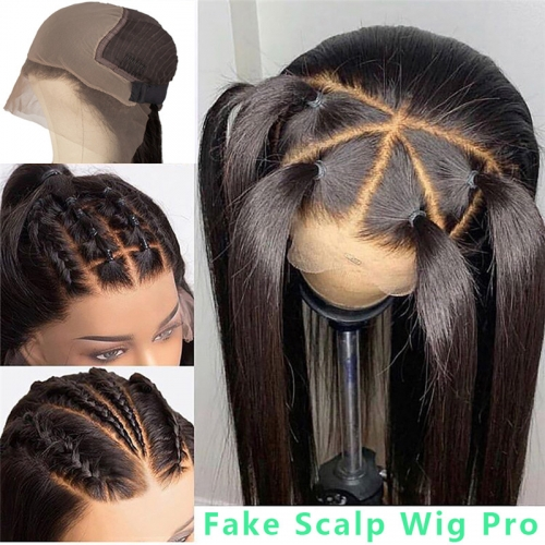 Queen Weave Hair Straight Fake Scalp Wigs Human Hair Body Wave Fake Scalp Wig Cap For Sale
