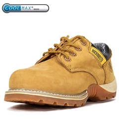 ROCKROOSTER Work Boots for Men, Composite Toe, 4'' Safety Leather Shoes, Non-Slip, Water Resistant, EH, Anti-Fatigue, AP238
