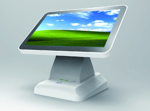 LENVII LV-N3S POS Touch Screen, 15.6 Inches Wide Touch Screen, Single Side with LED Display, Capacitive Touch, White